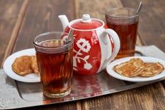 Panquecas do chá Fotografia de Stock Royalty Free