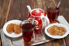 Panquecas do chá Fotos de Stock