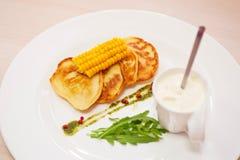 Panquecas do milho Fotografia de Stock