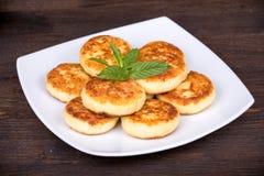 Panquecas do queijo Imagem de Stock