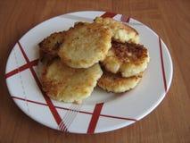 panquecas do queijo do alimento Imagens de Stock