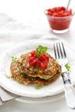 Panquecas do Zucchini imagem de stock royalty free