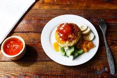 Panquecas frutados do queijo Imagem de Stock