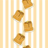 Panquecas para o café da manhã, por favor! ilustração royalty free