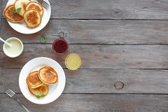 Panquecas para o pequeno almoço fotos de stock