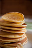 Panquecas perfumadas para o café da manhã Imagens de Stock
