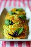 Panquecas vegetais Imagens de Stock Royalty Free