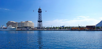 Panroma of Barcelona port. Stock Photo