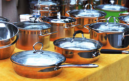 Pans for cooking Royalty Free Stock Images