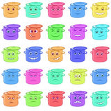 Pans Smilies Royalty Free Stock Images