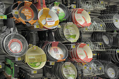 Pans in the store Stock Photography