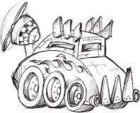 Pansarbilen skissar Arkivbild