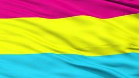 Pansexual Pride Close Up Waving Flag vector illustratie