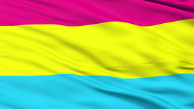 Pansexual Pride Close Up Waving Flag. Pansexual Pride Flag, Close Up Realistic 3D Animation, Seamless Loop - 10 Seconds Long stock video footage