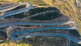 Panshan-Landstraße in China stockbilder