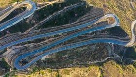 Panshan-Landstraße in China stockbild