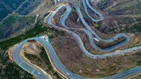 Panshan-Landstraße in China lizenzfreies stockfoto