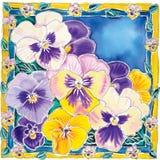 pansies пурпуровые Стоковые Фото