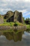 Panska skala near the pond Royalty Free Stock Photos