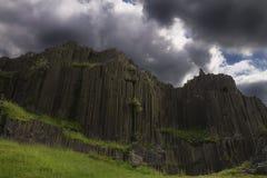 Panska skala rock. Panska skala basalt rocks with cloudy sky stock images