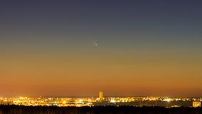 PANSTARRS comet stock photography