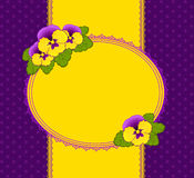 Pansy on background Stock Photo