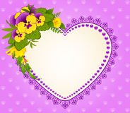 Pansy on background Stock Photos
