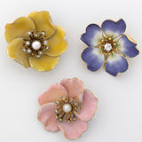 Pansy Brooches Royalty Free Stock Photo