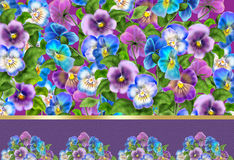 Pansy flowers abstract background Royalty Free Stock Photo