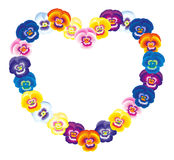 Pansy Heart Royalty Free Stock Image
