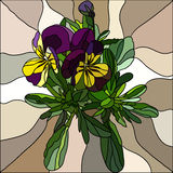 Pansy mosaic Stock Photography