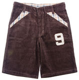 Pant's. child's shorts pant's on a background Royalty Free Stock Images