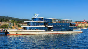 `Panta Rhei` ship at pier in Zurich, Switzerland Royalty Free Stock Photo
