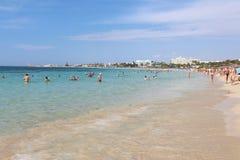 Pantachou Beach in Agia Napa, Cyprus. Stock Photo