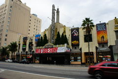 Pantages Theatre. The Pantages Theatre along Hollywood Boulevard in LOs Angeles, CA., the broadway musical West Side Story is now showing Royalty Free Stock Images