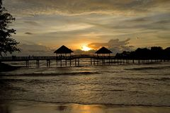 Pantai Cahaya Negeri, Port Dickson. Pantai Cahaya Negeri is a popular beachside destination between 5th and 6th mile of Port Dickson, served by a considerable Royalty Free Stock Photos
