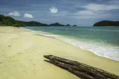 Pantai Cenang海滩在凌家卫岛-马来西亚 免版税图库摄影