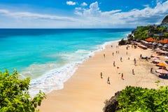 Pantai drömmarnas landstrand södra Kuta Bali, Indonesien Royaltyfri Foto