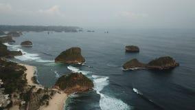 Pantai Goa Cina Malang East Java arkivfoton