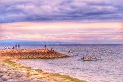 Merta sari beach royalty free stock images
