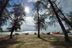 Pantai Nelayan Fisherman Beach Stock Photo