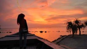 Pantai Tirto Samudro di tramonto Immagini Stock