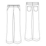Pantalón del tipo de tela de algodón Foto de archivo