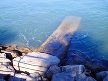 Pantalan in the bay of Cadiz Stock Images