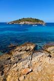 Pantaleu Island in Gemec Cove, San Telmo, Mallorca Stock Image