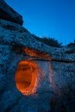 Pantalica at dusk Royalty Free Stock Photography