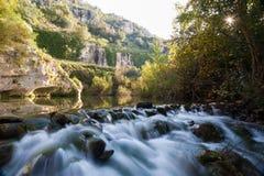 Pantalica floder Arkivfoton
