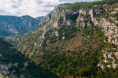 Pantalica's canyons Royalty Free Stock Image