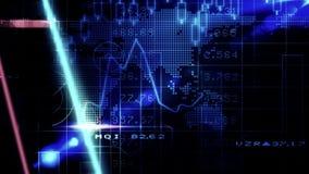 Pantalla azul de la tecnología de los valores de bolsa ilustración del vector
