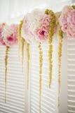 Pantalla con las flores Fotos de archivo libres de regalías